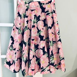 French Connection Floral Midi Skirt - Sz 6 US